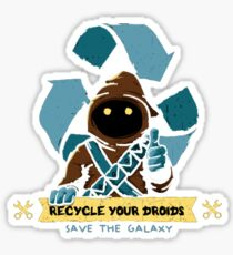 Recycle your droids - Jawa Sticker