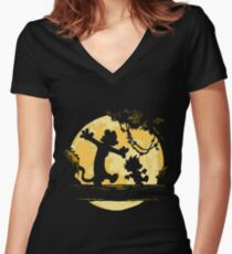 Calvin and Hobbes shirt Women's Fitted V-Neck T-Shirt