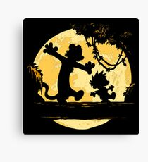 Calvin and Hobbes shirt Canvas Print