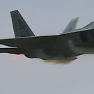 F-22 Raptor going supersonic by Paul Lenharr II