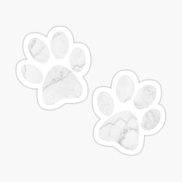 marble paw prints Sticker