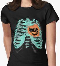 Burton's skeleton Women's Fitted T-Shirt