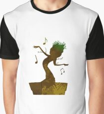 Tree Inspired Silhouette Graphic T-Shirt