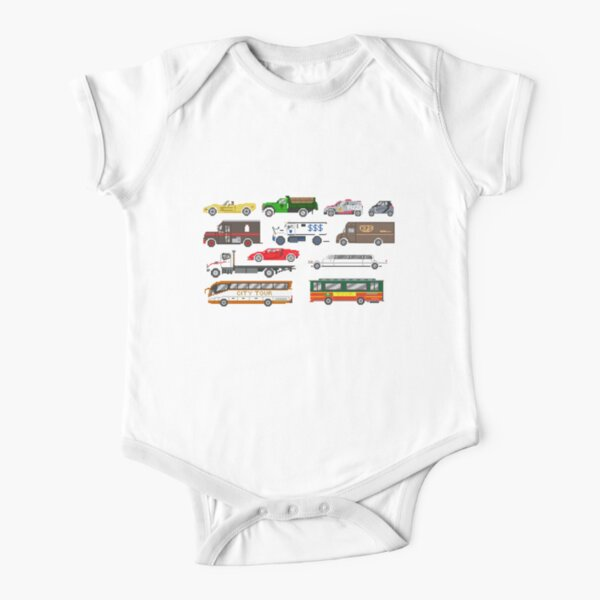 Street Vehicles 2 - The Kids' Picture Show Short Sleeve Baby One-Piece