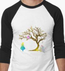 Wonderland Scene Inspired Silhouette Men's Baseball ¾ T-Shirt
