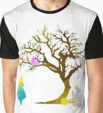 Wonderland Scene Inspired Silhouette Graphic T-Shirt