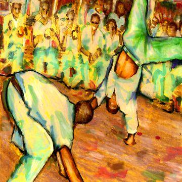 Old School Capoeira by deeda