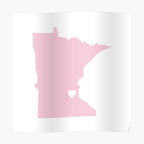 Minnesota Love in Pink Poster