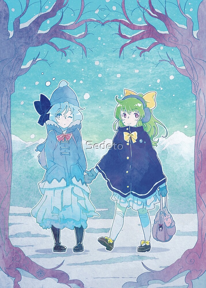 « Cirno and Daiyousei - Winter ver. » par Sedeto