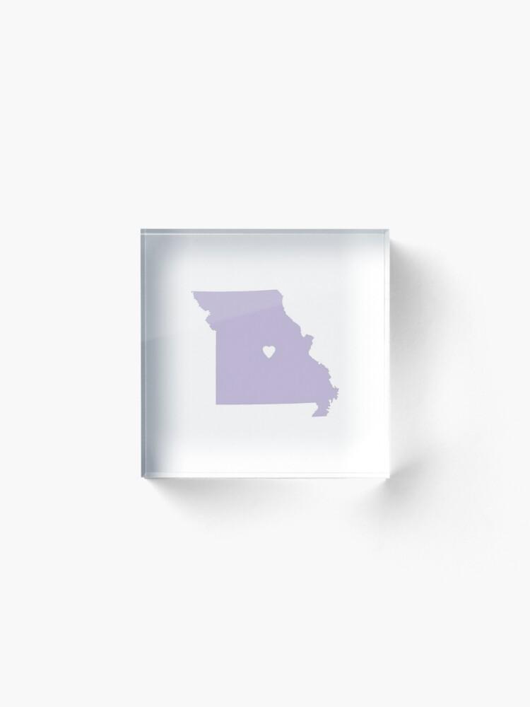 Alternate view of Missouri Love in Lilac Acrylic Block