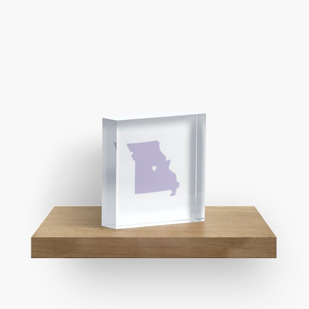 Missouri Love in Lilac Acrylic Block