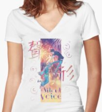 A Silent Voice - Koe no Katachi poster Women's Fitted V-Neck T-Shirt