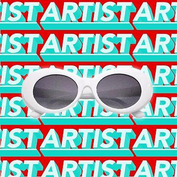 Artist Kurt Cobain Glasses by ahmedburdette