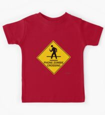 Phone Zombie Crosswalk Sign Kids Clothes