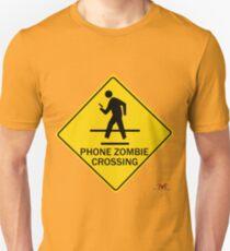 Phone Zombie Crosswalk Sign T-Shirt