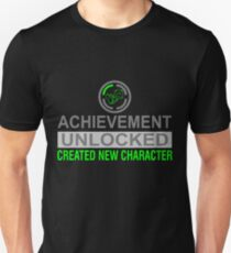 Achievement Unlocked - Created New Character Funny T-Shirt T-Shirt