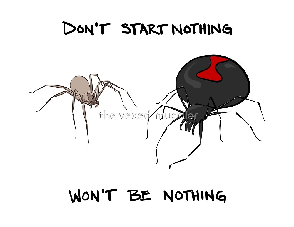 Don't start nothing, won't be nothing. (for light tees) by the vexed  muddler