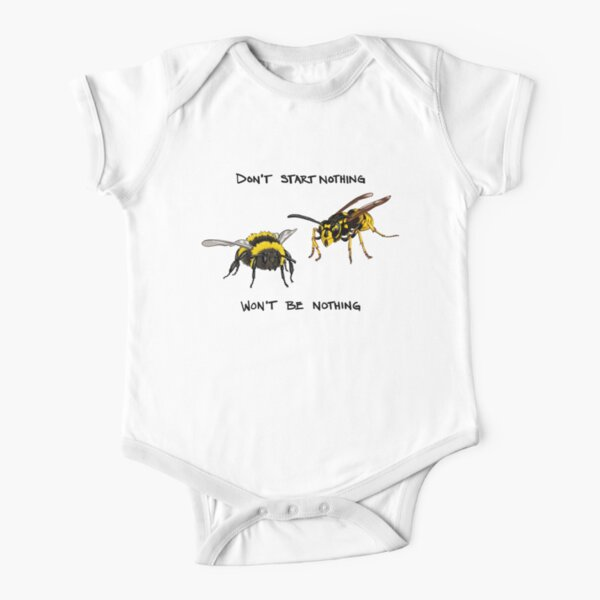 Don't start nothing - hymenoptera edition (for light shirts) Short Sleeve Baby One-Piece