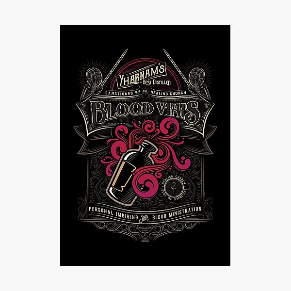 Yharnam's Blood Vials Photographic Print