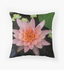 Water lilly after the rain. Throw Pillow