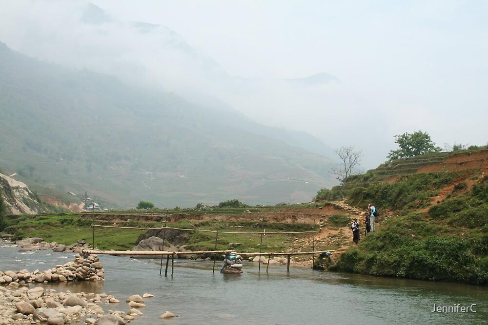Bamboo Bridge in the Mountains by JenniferC