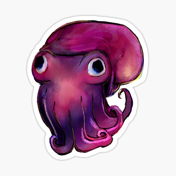 stubby squid Sticker