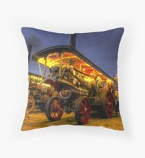 Showmans engine by night Throw Pillow