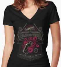Yharnam's Blood Vials Women's Fitted V-Neck T-Shirt