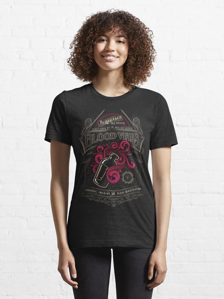 Alternate view of Yharnam's Blood Vials Essential T-Shirt