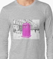 Pink Tardis  Long Sleeve T-Shirt
