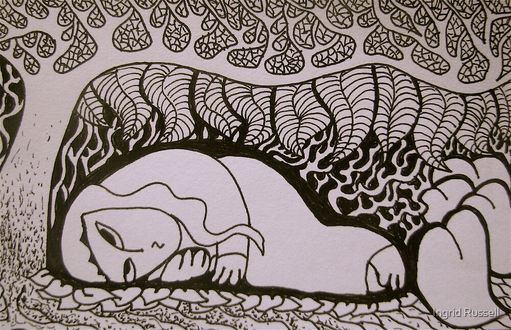 Drawing for Sleeping Beauty  by Ingrid Russell