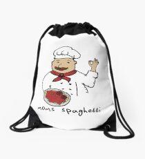 moms spaghetti eminem  Drawstring Bag