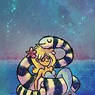 Mermaid & Sea Snake Friend by spiffy-keen