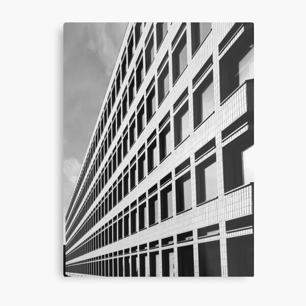 Just another boring office building. Shoreditch, London Metal Print