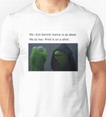 Evil Kermit Meme T-Shirt