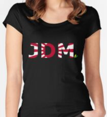 JDM Japanese Domestic Market Women's Fitted Scoop T-Shirt