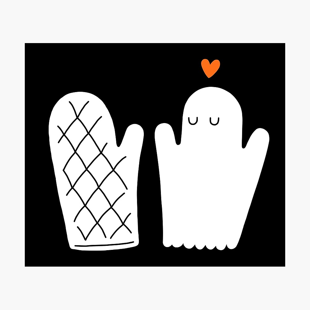 Oven Mitt & Ghost Photographic Print