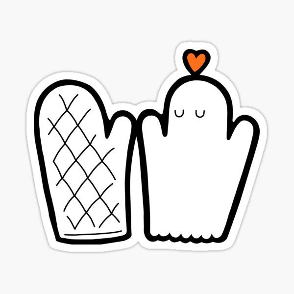 Oven Mitt & Ghost Sticker