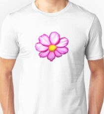 Pink Cosmos Flower with Romantic Skies Effect T-Shirt