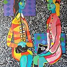 Chatty Girlfriends Bright Multicolor by IvonaTorovin