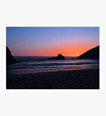 Big Sur sunset 1 Photographic Print