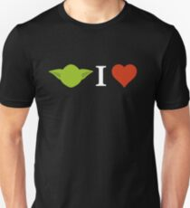 Yoda I Love (black) Unisex T-Shirt