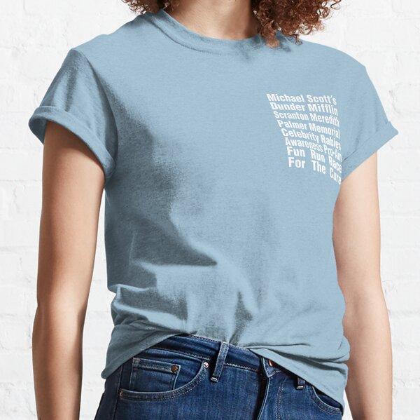 La camiseta de Office - Fun Run Race de Michael Scott para la cura Camiseta clásica