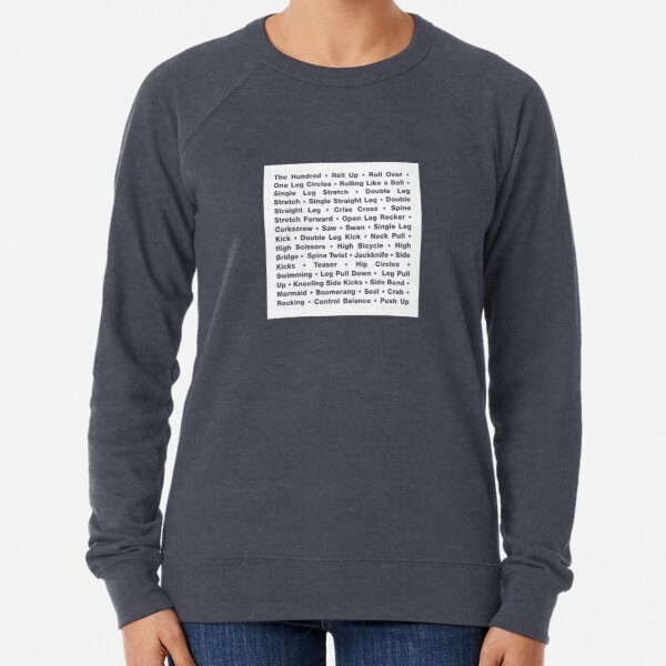 The Classical Pilates Repertoire Lightweight Sweatshirt