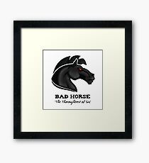 Bad Horse, Thoroughbred of Sin, Evil League of Evil Framed Print
