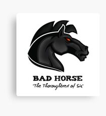 Bad Horse, Thoroughbred of Sin, Evil League of Evil Canvas Print