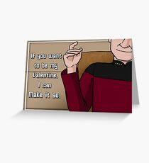 Make it so, Valentine Greeting Card