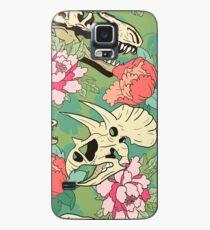Dinosaurier Blumen Hülle & Klebefolie für Samsung Galaxy