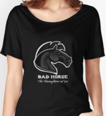 Bad Horse, Thoroughbred of Sin, Evil League of Evil Women's Relaxed Fit T-Shirt