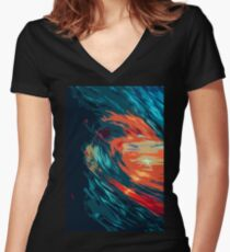 Waves of Colors Women's Fitted V-Neck T-Shirt